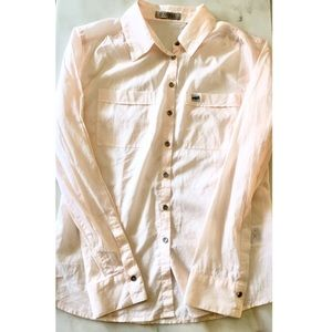 Guess Los Angeles Button down shirt pink Sz S/36
